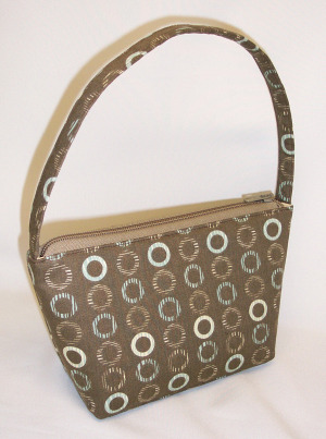 Dark Retro Circles Handbag