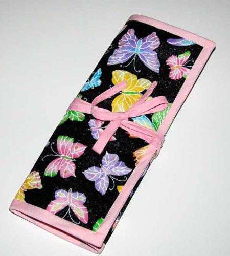 Glitter Butterflies Crochet Knitting Needles Organizer