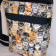 Halloween Kitties Print Drawstring Purse