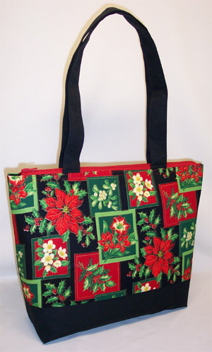 Red Holly Berry Print Purse