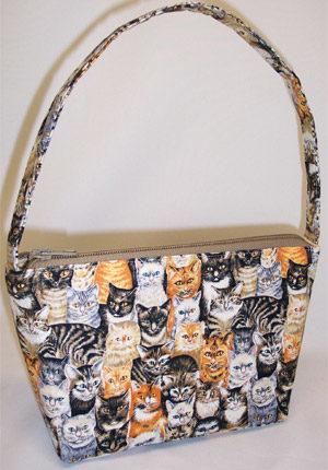 Kitties Cats Print Handbag