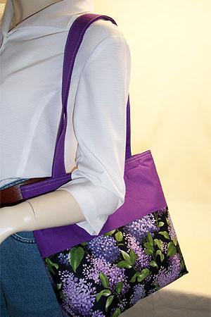 Lilac Print Purse