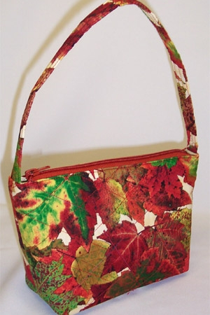 Autumn Maple Leaves Print Handbag