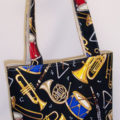 Music Notes Black Purse