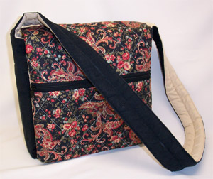 Floral Paisley Messenger Bag