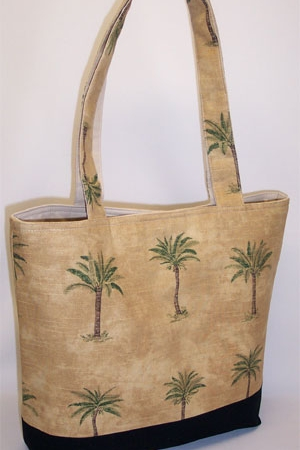 Palm Trees Print Purse