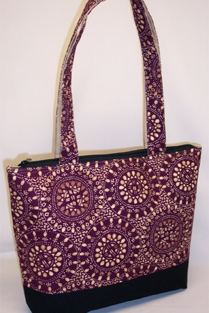 Plum Burst Circle Pattern Purse