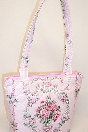 Pink Primrose Quilted Purse