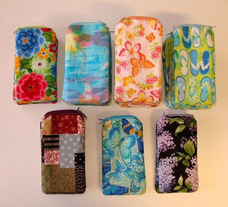 Floral Print Reading Glass Case
