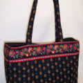 Red Floral Provence Weekender Bag
