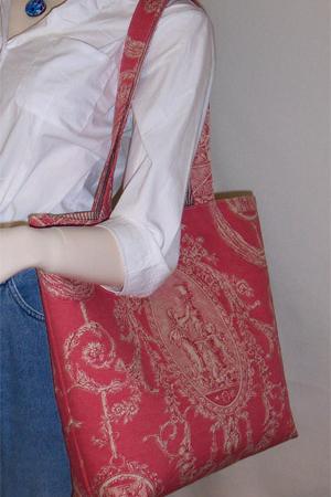 Jardin Rustic Red Toile Bag