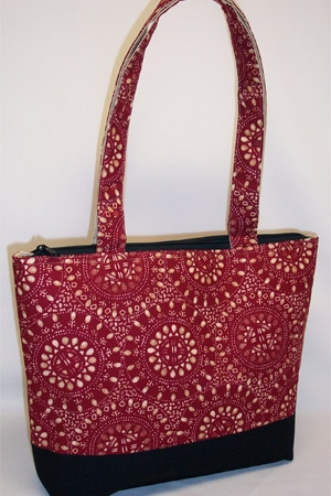 Dark Red Burst Circle Pattern Purse