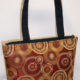 Gold Red Circles Print Tote Bag