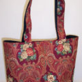 Paisley Dark Red Tote Bag