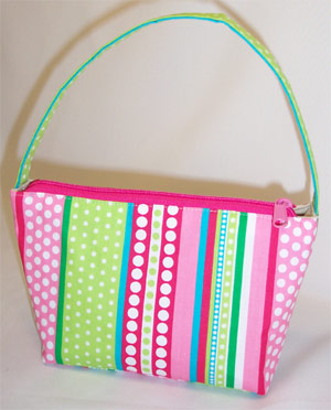 Ribbons Pink Handbag