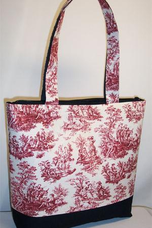 Dark Red Rustic Life Toile Bag