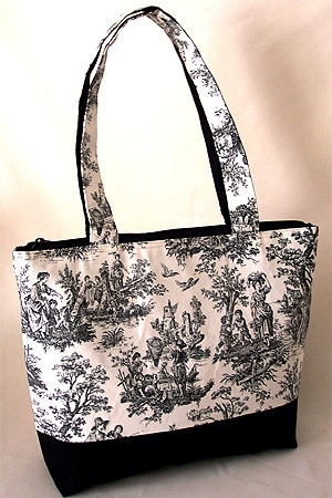 Rustic Life Country Toile Bag
