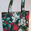 Holidays Floral Print Tote Bag